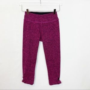 Beyond Yoga Berry Space Dye Crop Side Knot Small